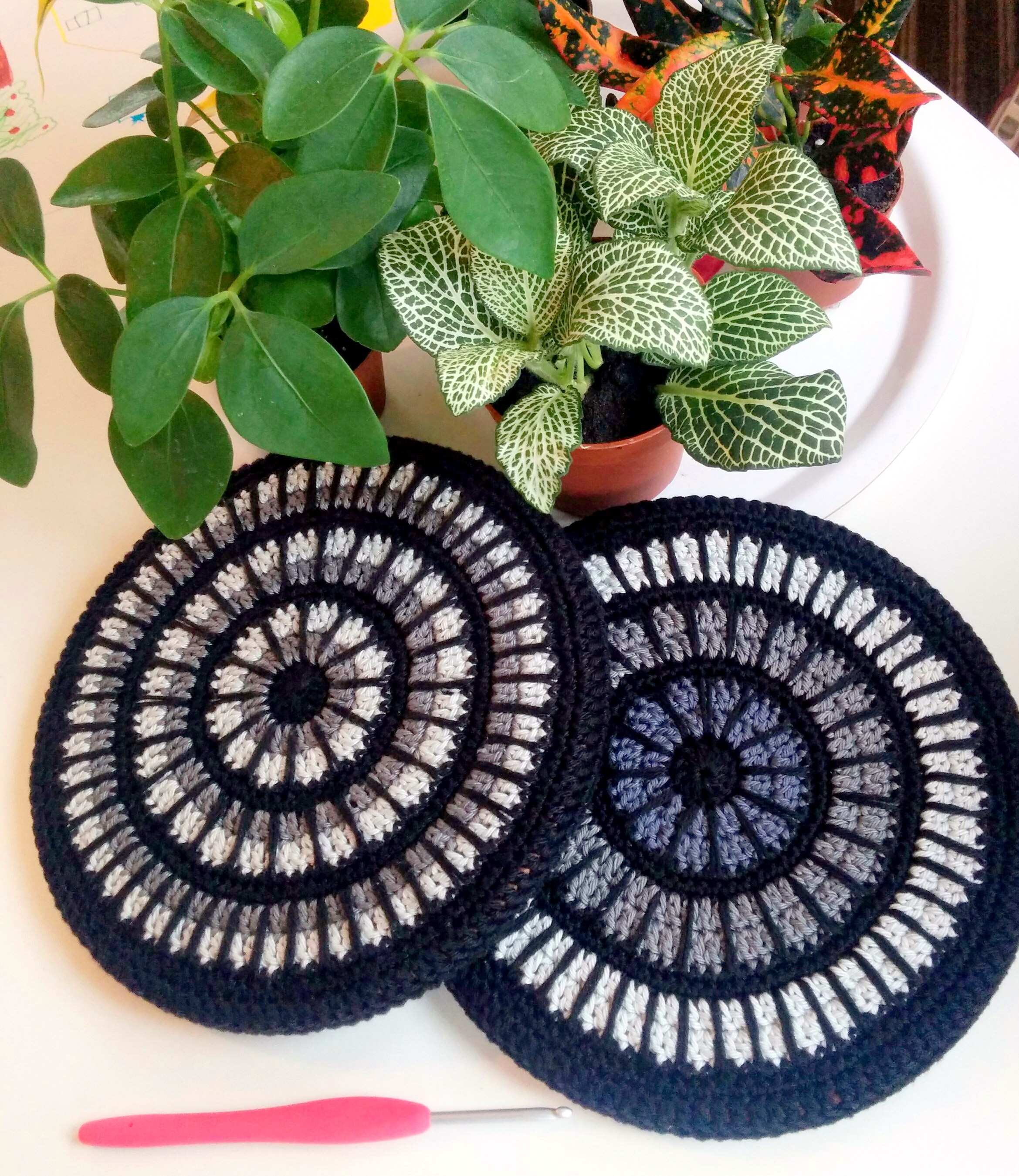 Mandala Trivet Cover Hooked By Anna